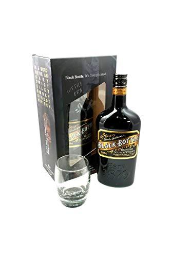 Black Bottle Blended Scotch Whisky 70cl, with a Black Bottle Limited Edition Whisky Tumbler