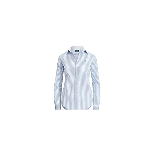Bluse, tailliert, gestreift, Bluse, tailliert, gestreift, Hellblau Gr. 42 DE , blau
