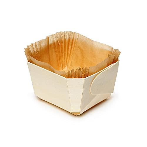 FaisTonGateau - Bandeja para cocinar de madera - Comtesse - Juego de 200 unidades