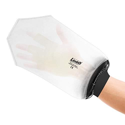 Protections imperméables LimbO pour main – Housse de protection pour les pansements à utiliser pour le bain ou la douche – (mesure de poignet 22 cm – 30 cm)