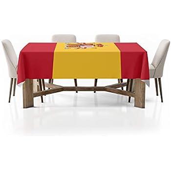 G Mantel Bandera de España| Mantel Fabricado en PVC Frontlit 400gr | Diseño Elegante | Medidas 140cm x 220cm (1 Unidad): Amazon.es: Hogar