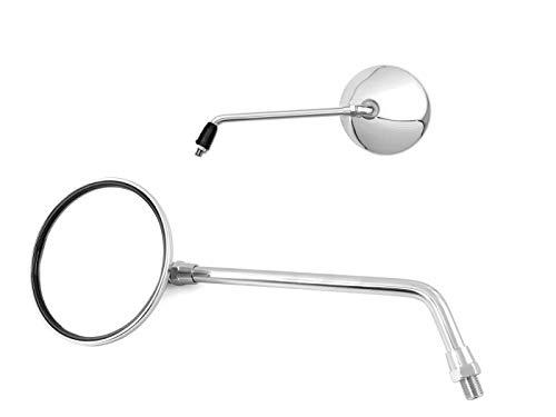Motorrad Spiegel universal, mit Prüfzeichen, verchromt, M10 Gewinde