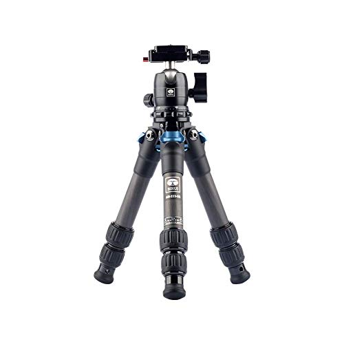 SIRUI Mini Tripod AM-223 ProfiLegs Carbon Fiber Travel Compact Lightweight Tripod with B-00K Ball Head (AM-223+B00K)