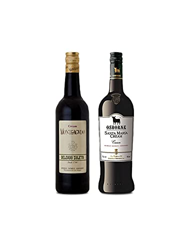 Vino Cream Monteagudo de 75 cl y Vino Cream Santa Maria de 75 cl - Mezclanza Exclusiva