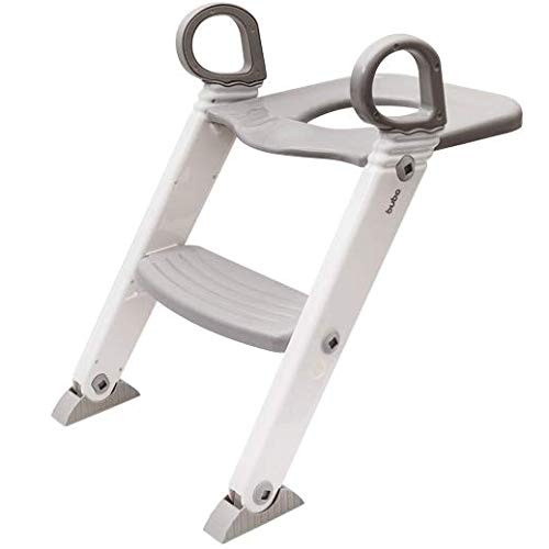 Assento Redutor Com Escada -Cinza, Buba, Cinza