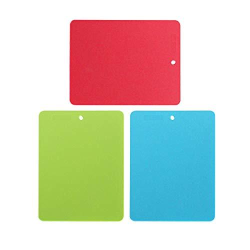 Unbekannt Best Kitchen + Life Tools Lot de 3 Plateaux de découpe pour Tous Les Aliments Rouge/Vert et Bleu 30 x 22 cm