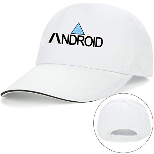 sdssup Juego de Gorra de béisbol de Anime Color Blanco Debajo de Android M56-58cm