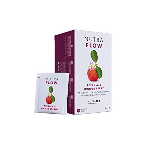 NutraFlow - Harnwegsinfektionstee | Soor-Tee | Blasenentzündungstee - lindert Beschwerden der Harnwege – 40 Verpackte Teebeutel - von Nutra Tea – Kräutertee – (2 Packung)