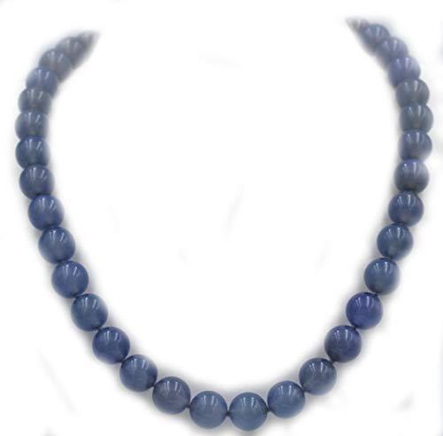Collar Calcedonia mm. 10 con cierre de plata 925. Longitud: 41