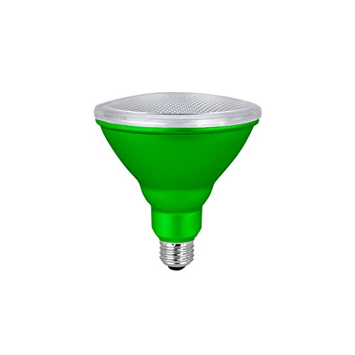 LED PAR38 Colored Flood Light Bulb, 7W, (40W Equivalent), Waterproof, Indoor/Outdoor, E26 Medium Base, 120V, RoHS Listed, Green (1 Pack)