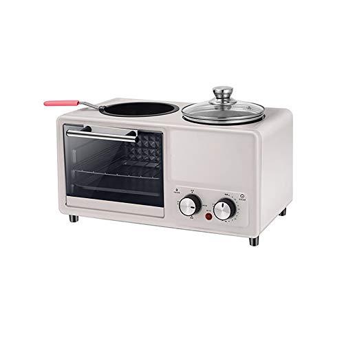SSZZ Home Multifunktionale Frühstücksmaschine Vier in Einem Gebratenen Braten Automatische Elektrogerät Antihaft Leicht Zu Reinigen,Weiß,A