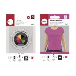 Rayher Fixator + textielverf voor wasmachine - roze