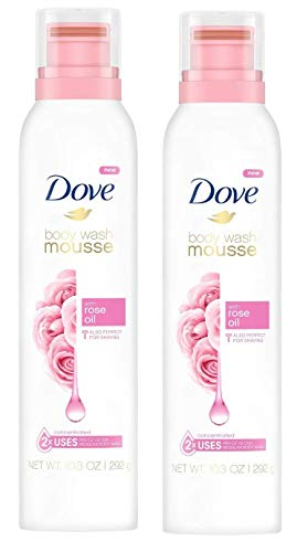 Dove Body Wash Mousse with Rose Oil- 10.3 Oz (pack of 2) -  011111012202