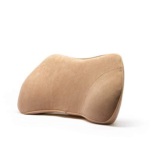 WENNEBIRD Model B Lumbar Support Pillow, Back Cushion, Memory Foam and Ergonomic Design, for Office/Computer Chair, Car Seat, etc - Beige