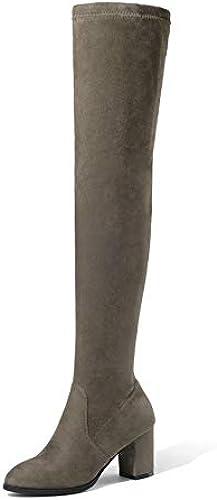 HAOLIEQUAN Les Femmes De Plus Bottes Chaussures Femmes Talon Haut Carré d'hiver De La Plate-Forme Toutes Les Femmes Match Taille Bottes 34-43