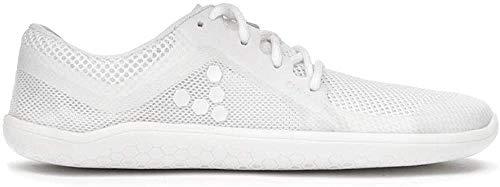 Vivobarefoot Primus Lite, Mens Vegan Light Movement Breathable Shoe with Barefoot Sole White