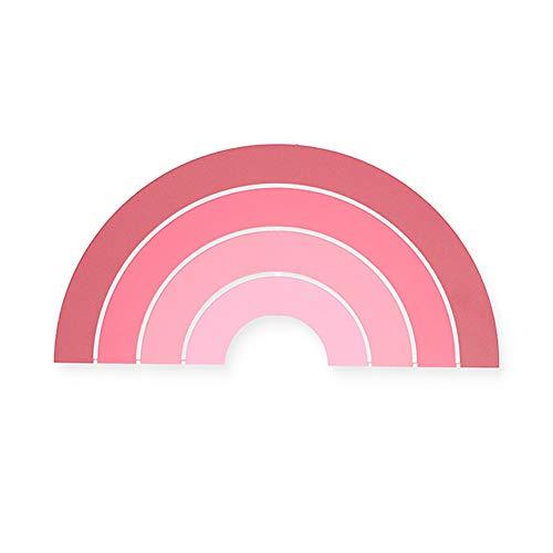 Jollein 005-005-65289 Holz Wandleuchte LED Lampe Regenbogen rosa pink 25x40 cm