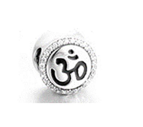 Bolenvi Ohm Om Yoga Hinduismo 925 Cuentas de plata de ley 925 para pulseras de abalorios  El mejor regalo de joyería para ella