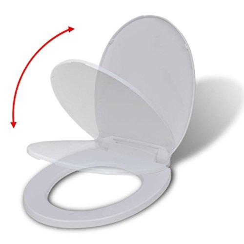 Toiletbril ovaal met softclose-functie wit Met soft-close-functie