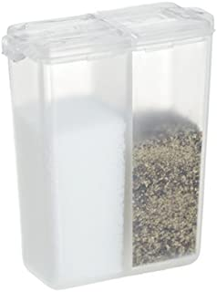 Personal Salt and Pepper Shaker, Pocket Size, Clear