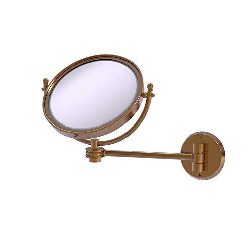 Allied Brass WM-5D/4X-BBR Miroir de Maquillage Mural grossissant 4X Bronze brossé 20,3 cm