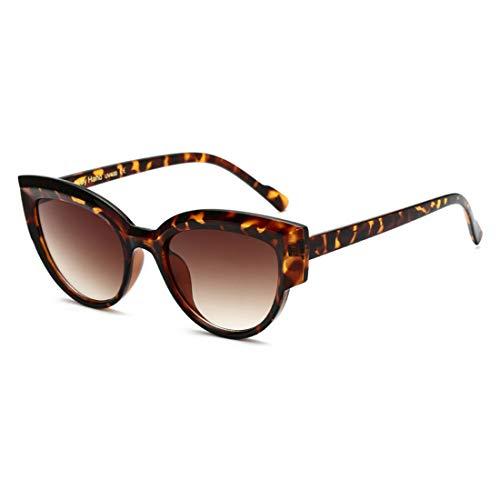 Sunglass Fashion Protección UV Lente Oscura Conducción al Aire Libre Viajar Gafas de Sol de Cat Eyes de Lady (Color : Leopard Frame)