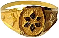 Certified Solid 22K/18K Yellow Fine Gold Flower Design Kids Ring Size-1 Available In 22 Carat And 18 Carat Fine Gold For Gifts,Kids,Childrens,Baby Boy,Baby Girl,Infant,Celebrations & Regular Use