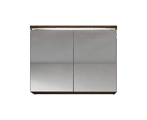 Spiegelkast Paso 80cm Eiken - kast spiegelkast spiegel badkamer badkamermeubel