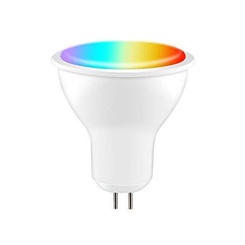 CHAW Gu10 / E27 / Gu5. 3 Smart Wifi LED Glühbirne 2. 4 Ghz Wifi Glühbirne Dimmbare RGB Smart Glühbirne Kompatibel mit Alexa & Google Assistant