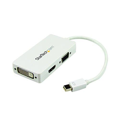 StarTech.com MDP2VGDVHDW - Adaptador Mini DisplayPort a VGA DVI y HDMI, Blanco
