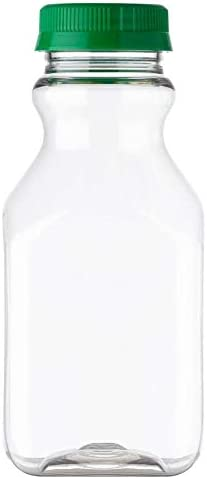 16 oz PET Plastic Max 79% OFF Square High quality new Juice Green Bottle with Tamper Evident