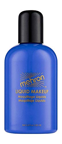 Mehron Liquid Face Paints - Blue BL (4.5 oz) by Mehron (English Manual)