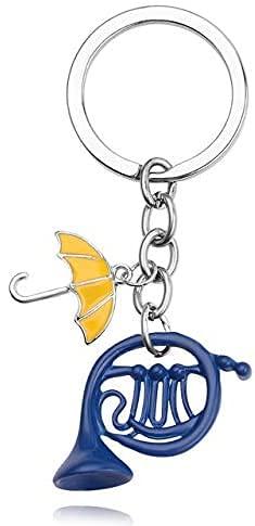 Kotec24 How I Met Your Mother Schlüsselanhänger Yellow Umbrella Blau Horn Anhänger SchlüßelanhängerGeschenk für Fans
