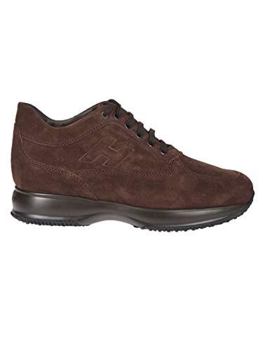 Hogan Luxury Fashion Herren HXM00N09042HG0S807 Braun Leder Sneakers | Jahreszeit Permanent