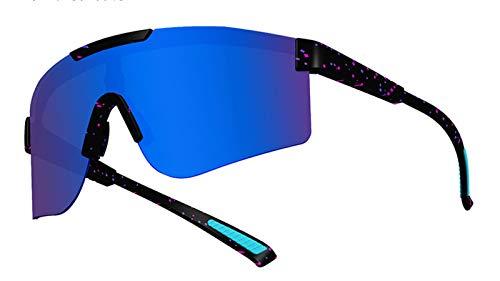 Pit Viper Gafas De Ciclismo Polarizadas para Hombres Y Mujeres, Gafas De Sol Deportivas UV400 Protección Gafas Equipo para Montar Eyewear para La Escalada Al Aire Li Royal Blue