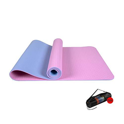 MeiZi Yoga Matte Training Pad Dicke rutschfeste Faltgym Fitness Matte Pilates Outdoor Inn Training Gymnastik Übung Fitness Teppich (Color : Pink)