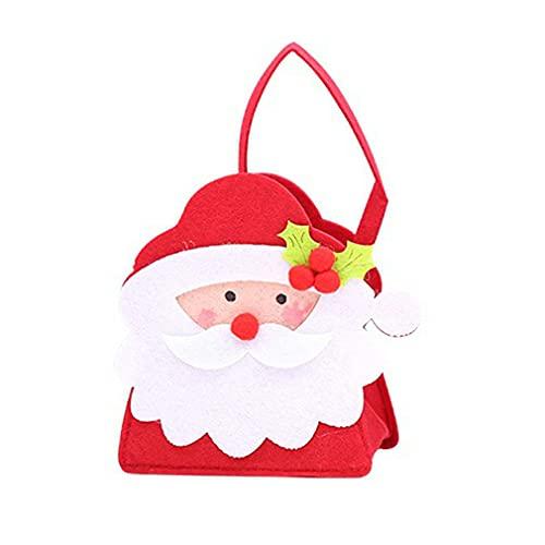 Torebka na cukierki Urocze dzieci Wesołych Świąt Prezent Ozdoba na prezent bożonarodzeniowy czerwono-biała 135x75x205mm
