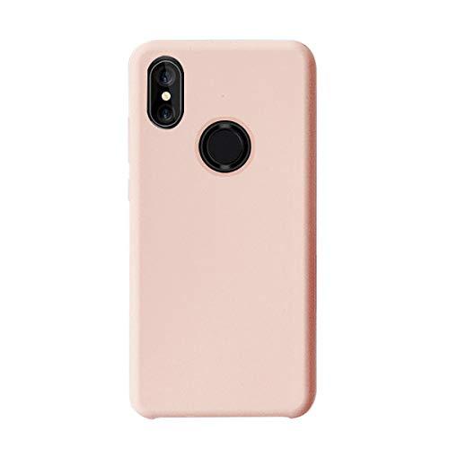 Croachi Compatible con Funda XiaoMi Mi A2 Lite/Redmi 6 Pro, Xiaomi Mi 6X Case Carcasa Silicona TPU Transparente Cover Antigolpes Protector Ultra-Fina-Slim 360 (Rosa, Mi A2 Lite/Redmi 6 Pro)
