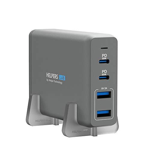 helpers lab 105W Dualer USB C Ladegerät mit 30W 65W Typ-C PD PPS Netzteil Kompatibel mit Dell XPS 12, 9250 XPS 13 9350 9360 9365 9370 9380, Latitude 7370 7280 7480 5480 7275 5290 7490 und mehr