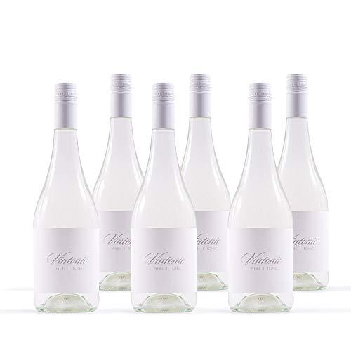 VINTONIC Wein + Tonicwater mit feiner Bitternote [6 x 0,75 l] - versetzt mit Kohlensäure - Fruchtiger & Würziger Geschmack - 5,6% vol. Alk.