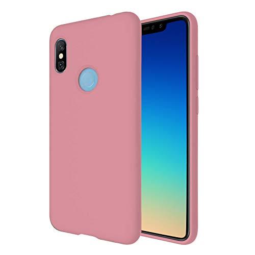 """TBOC Funda para Xiaomi Redmi Note 6 Pro [6.26""""] - Carcasa Rígida [Rosa] Silicona Líquida Premium [Tacto Suave] Forro Interior Microfibra [Protege la Cámara] Resistente Suciedad Arañazos"""