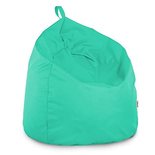 Italpouf Pouf Poire L pour Enfants Turquoise 77 x 90cm 230l Rembourrage en Billes de polystyrene Indoor Beanbag Chaise de Sol Outdoor