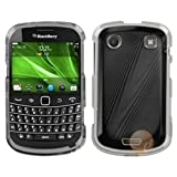 MYBAT Cosmo Protector Faceplate Cover Compatible with RIM BLACKBERRY 9930, Black