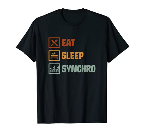 Synchro Natación Sincronizada Retro Vintage Camiseta