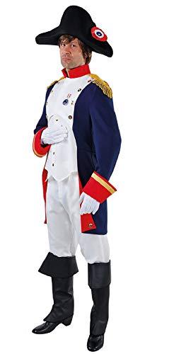 M215258-S-A - Disfraz de pirata para hombre, color azul, rojo y blanco, talla S
