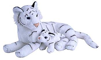 Wild Republic Mom & Baby White Tiger Plush Stuffed Animal Plush Toy Gifts for Kids Zoo Animals 11