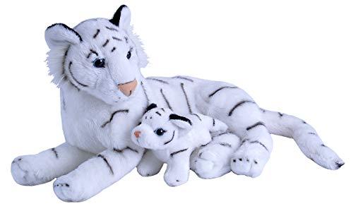 Wild Republic 19402 Mamá y Bebé Tigre Blanco Peluche Animal, Juguete, Regalos para Niños