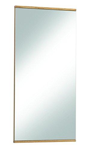 Voss 3-teiliges Garderoben-Set 11 VEDO | In Balkeneiche furniert mit Absetzungen in Mattglas Anthrazit