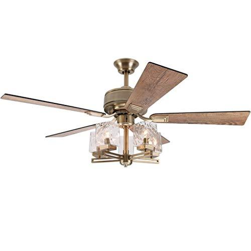 Ventilador de techo con luz decorativa ligera Luz de ventilador de techo...