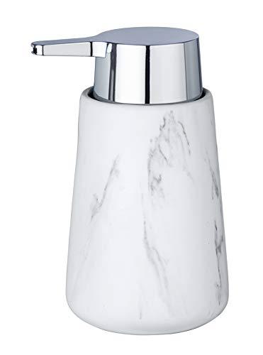 Wenko 23695100 Adrada - Dispensador de jabón (cerámica, 10, 5 x 15 x 8, 5 cm), Color Blanco